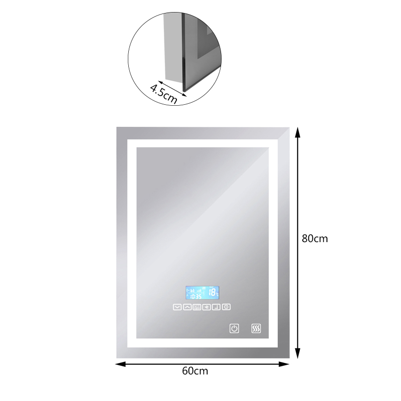 Bathroom Fixtures Bath Mirrors Fast Deliver 1pc Smart Mirror Led Bathroom Mirror Wall Bathroom Mirror Bathroom Toilet Anti-fog Mirror With Touch Screen 23w 6000k Hwc Punctual Timing
