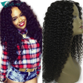 Best Human Hair Curly U Part Wig Mongolian U Part Curly Wig Unprocessed Virgin Curly 1''x4'' Inch Middle Part U Part For Sale