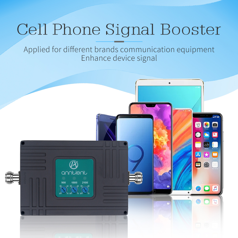 2G 3G 4G Tri-Band Cellular Signal Booster Repeater 900/1800/2100MHz GSM WCDMA 4G LTE Cellular Repeater Amplifier Stand-alone