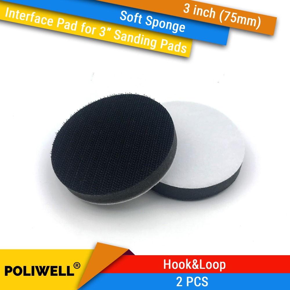 2PCS 3 Inch(75mm) Soft Sponge Interface Pads For 3