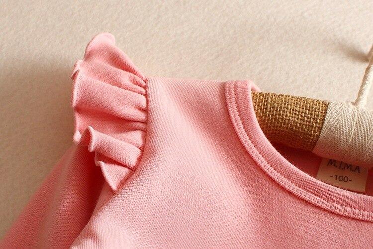 Pamuk Djevojke majica s dugim rukavima dječja odjeća 2016 jesen - Dječja odjeća - Foto 5