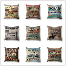 Retro Letters Cushion Cover Soft Decorative Pillow Covers for Sofa Car Bed Living Room Vintage Home Decor Peach Skin Pillowcases цены