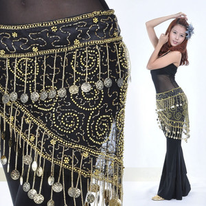 Image 1 - High grade Belly dance costume clothes indian dance belt waist chain hip scarf women girl dance with 158 coins B 004