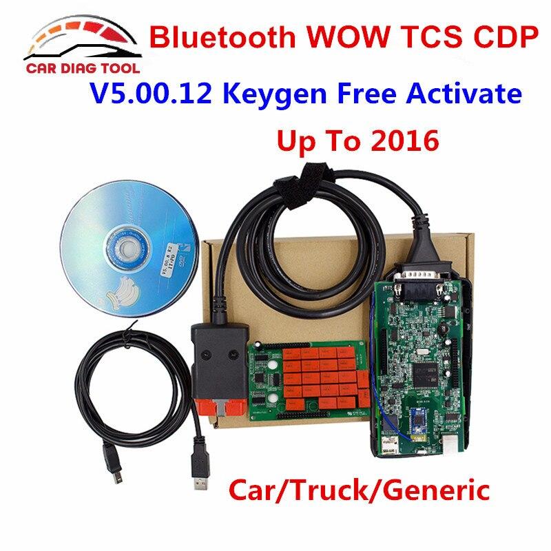 Unikalne WOW V5.0012 Bluetooth OBD2 Narzędzie Diagnostyczne WOW Interfejs EX58
