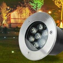 7*2 Вт светодиодные лампы подземных Похоронен освещение LED подземный свет открытый встраиваемые DC12V AC85-265V