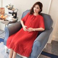 2018 Maternity Dress Patchwork Loose Pregnancy Clothes Cute Pregnancy Clothing Of Pregnant Women Cotton Vestidos