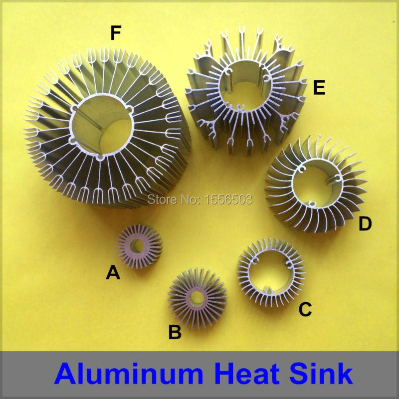 2X LED Aluminum Radiator Heat Sink High Power Cooler Heatsink Radiating PCB Base for Lamp DIY 1W 3W 5W 7W 9W 12W 15W 18W 24W