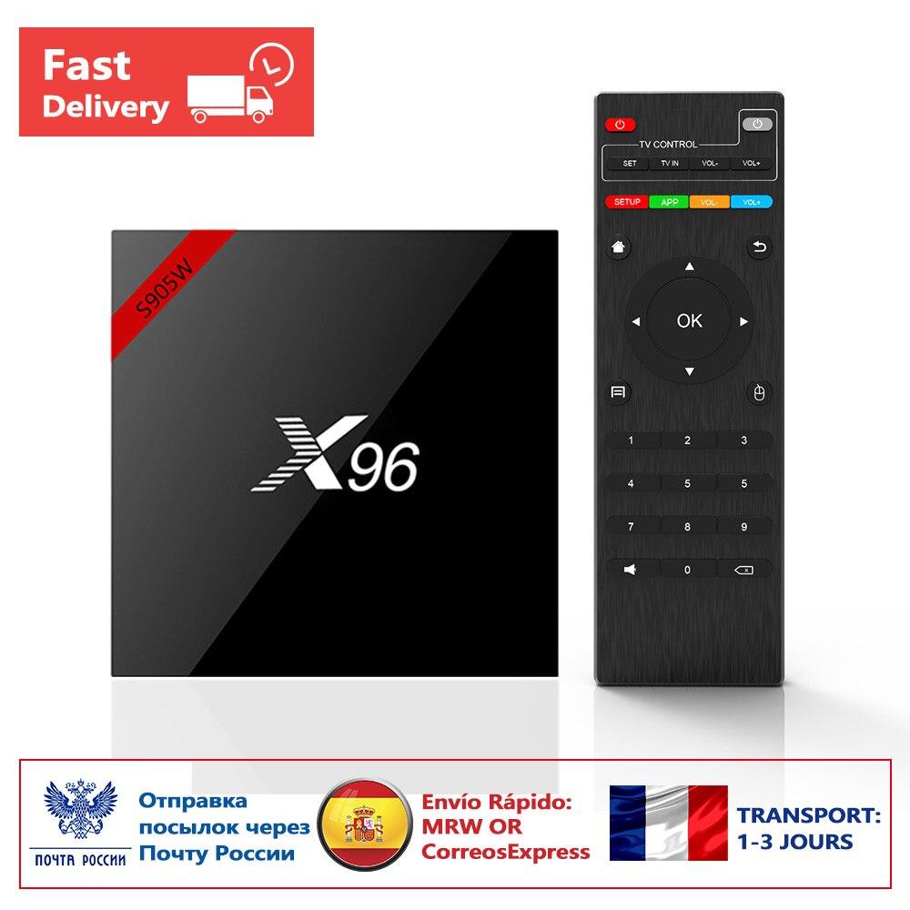 NEW!!! Original X96W Android 7.1 Smart TV BOX Quad core HD2.0 4K*2k Amlogic S905W Set-Top Box X96 W Media Player