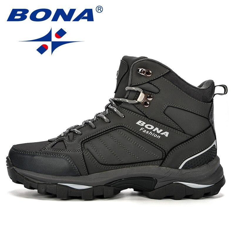 FOI Hommes Bottes Anti-Dérapage Chaussures En Cuir Hommes Populaires Confortable Printemps Automne Hommes Chaussures Peluche Courte Bottes de Neige Durable semelle - 6