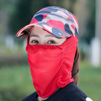 2017 Foldable Quick Drying Hiking Hat Ladies Sunscreen Hat UV Sunscreen Running Cap Mask Faceball Hat