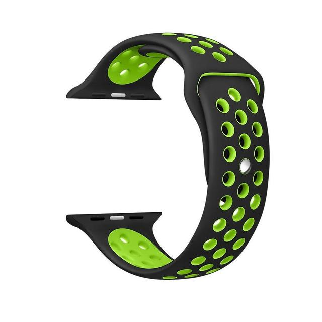 Silicone Sport Wristbands for Apple Watch Band 38MM 42MM Soft Breathable Band for Apple Watch Strap iwatch 3/2/1 Sport Watchband   Watchbands