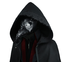 Стимпанк маска Чумного доктора маска врачебная маска длинный нос Косплей Маскарадная маска ретро из искусственной кожи Хэллоуин маска кос...