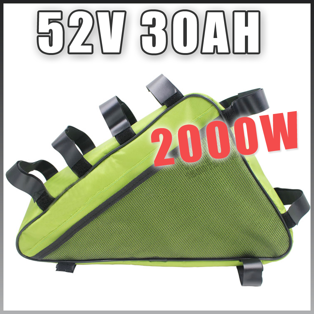 E BIKE 52 V 30AH batteria al litio Bicicletta Elettrica Lunga vita triangolo Batteria Compatibile 48 V Libero Doganale US UE RU