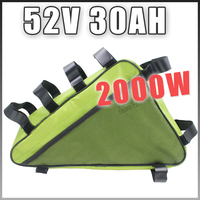 E BIKE 52V 30AH Electric Bicycle lithium battery Long life triangle Battery Pack Compatible 48V Free Customs US EU RU