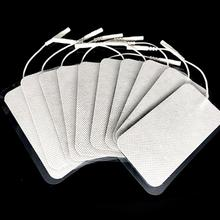 10pcs/lot Electrode Pads for Tens Units White Cloth for Slimming Massage Digital Therapy Machine Massager 5x10 cm(China)