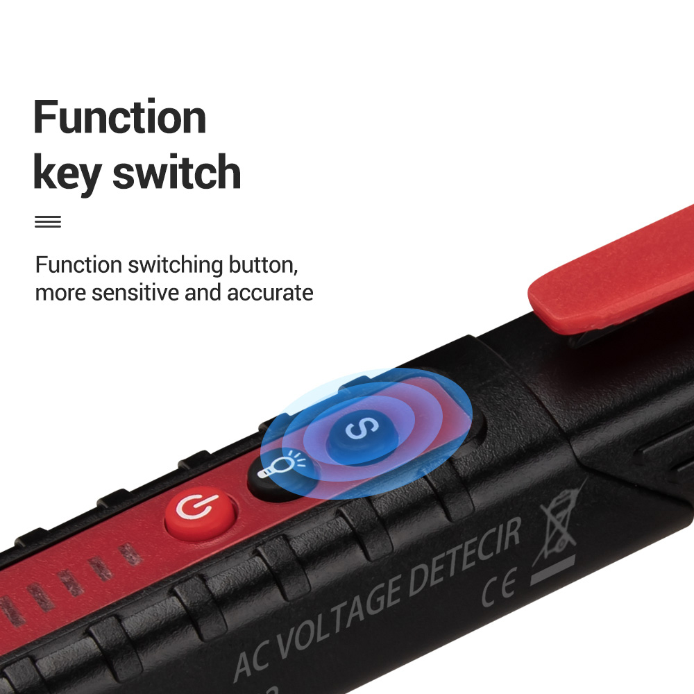 Digital Non Contact AC Voltage Detector Pen to Measure Up to 12 to 1000V Voltage Range 5