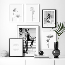 Fashion Girl Vintage Poster Flower Plant Nordic Posters And Prints Wall Art Canvas Painting Wall Pictures For Living Room Decor цена