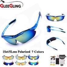 6fd7ae5b21 GLEEGLING 2018 profesional pesca polarizado gafas hombres y mujeres  escalada gafas de sol Sport gafas 1 Unidades 5 lente