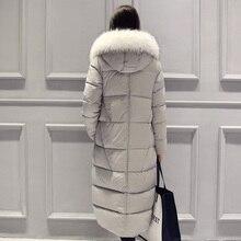 2015 Femmes de Manteaux Pour L'hiver Épaississement Duvet de Canard Vestes Femmes Outwear Longtemps Nouvelle Femelle Chaud Extra Long Down Parka & manteaux DX660