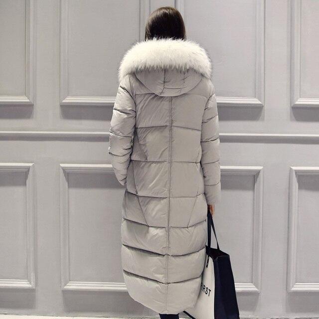 2015 das Mulheres Casacos Para O Inverno Espessamento Pato Para Baixo Mulheres Casacos Longos Outwear Nova Fêmea Quente Extra Longo Para Baixo Parka & Coats DX660