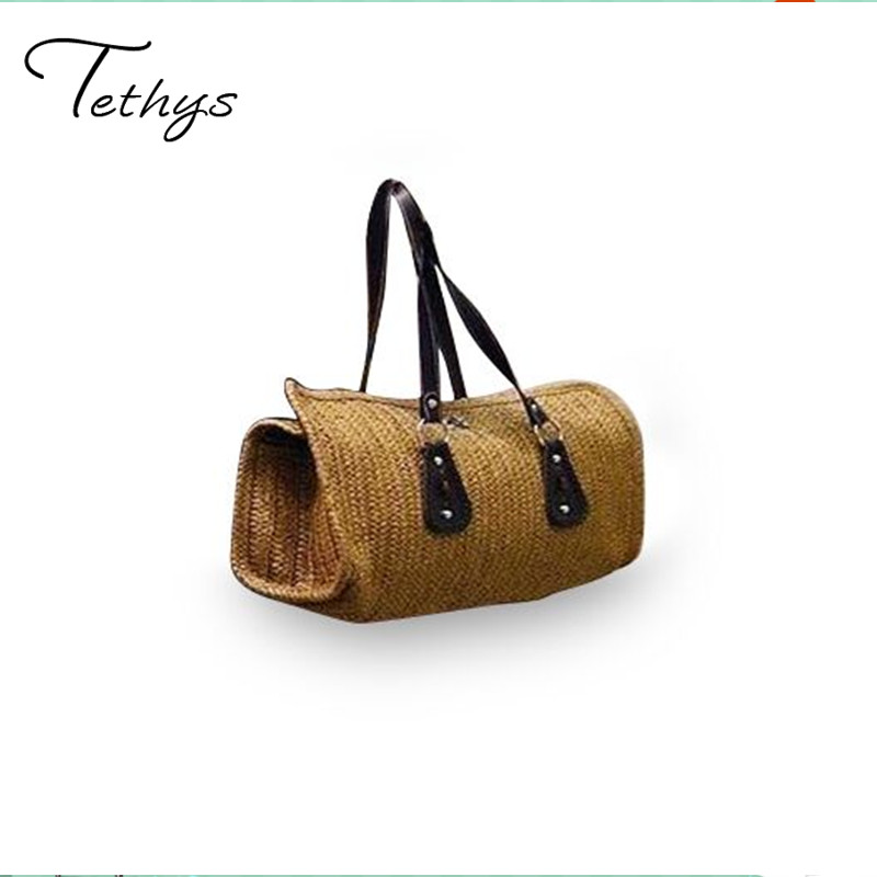 2017Straw Bag Large Capacity Grass handwoven shoulder bag summer style beach bags handbags women famous brands tote bag female s ysbao s4 10000mah portable power source bank w flashlight for samsung iphone more purple