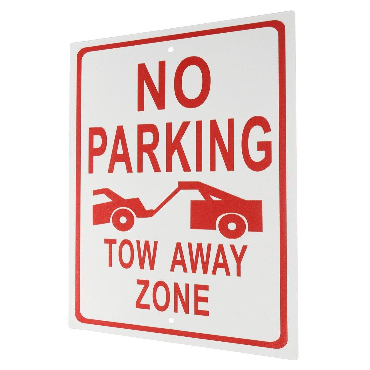 Новый Алюминий Сплав Нет парковки-буксировки от зоны Предупреждение знак на рабочем месте Детская безопасность безопасности ...