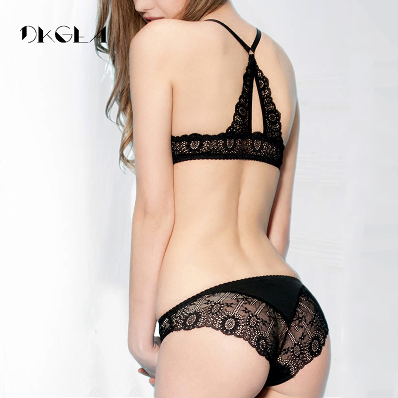 Fashion Brand Front Closure Lingerie   Set   Y-line Straps Thick Push-up   Bra   Blue VS   Bra   Panties Sexy Lace Underwear   Set   Embroidery