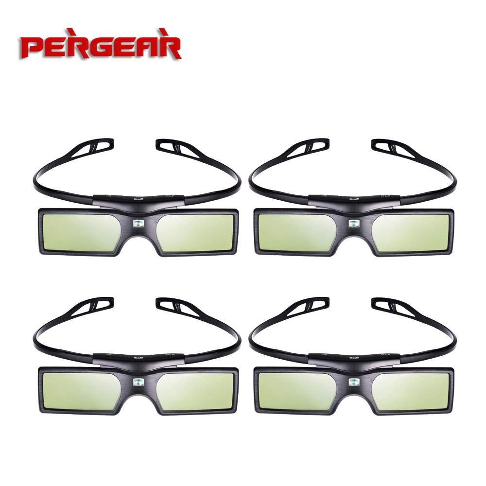 4pcs/lot G15 DLP Link 3D Glasses Active Shutter for Optoma Sharp LG Acer BenQ Acer Dell Vivitek DLP-LINK DLP Link Projectors 3d очки oem 3d dlp link dlp 3d optoma lg acer benq w1070 3d dlp cx 30