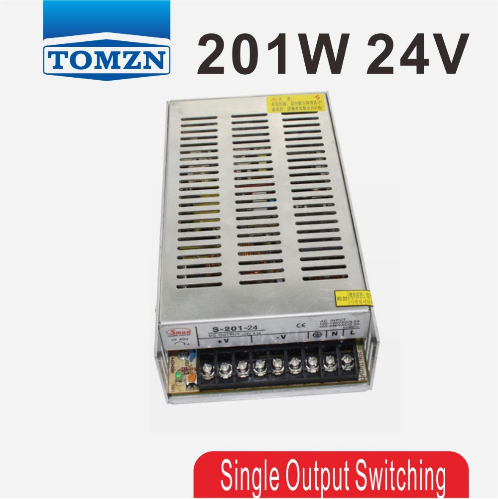 201W 24V 8.3A Single Output Switching power supply for LED Strip light AC to DC 150w 24v 6 5a small volume single output switching power supply for led strip light ac to dc