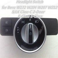 Полярландер кнопочный переключатель фар 2129057100 для Benz W172 W204 W207 W212 S/LK Class C 2-дверный e-класс противотуманная фара