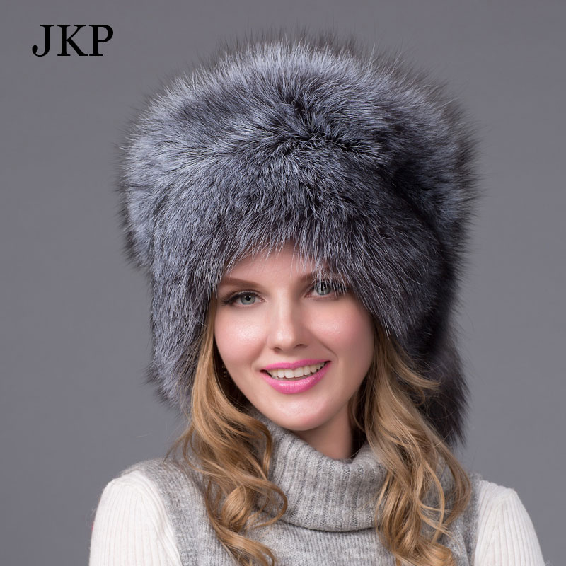 12157f865d5 Real Fox Winter Hats For Women Winter Luxury Fur Genuine Fur Trapper fox  fur tail Hat Caps Russian Style Hat Bombers -in Skullies   Beanies from  Apparel ...