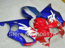 Hot Sales,99-00 CBR 600 F4 fairing kit For Honda CBR600F4 1999-2000 Red & Blue Sport Bike Fairings oem (Injection molding)