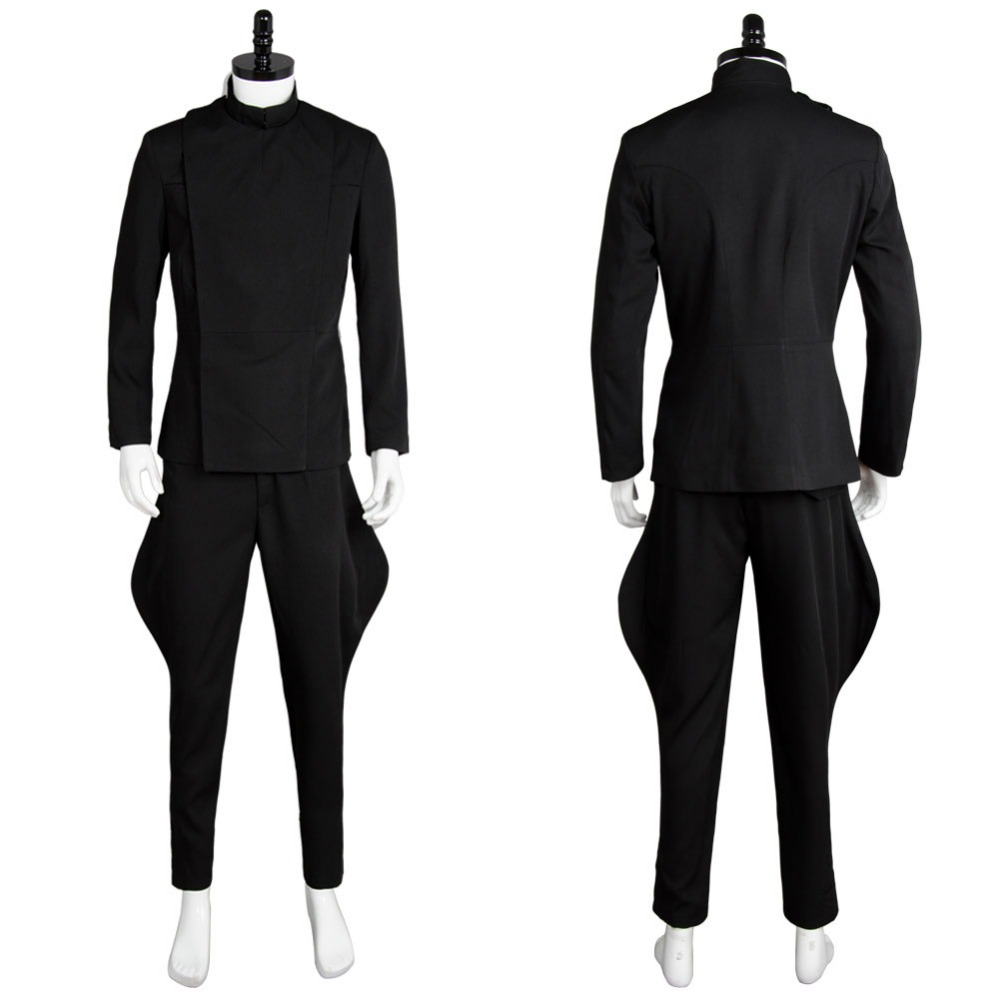 ᗑstar wars cosplay costumes the imperial officer black uniform for