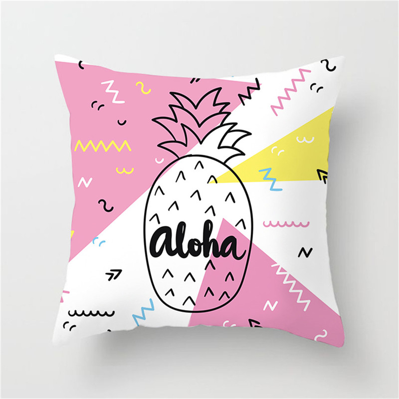 Fuwatacchi Fruit Cushion Cover Flamingo Watermelon Pineapple Strawberry Pillow Cover Chair Home Sofa Home Decoration Accessories in Cushion Cover from Home Garden
