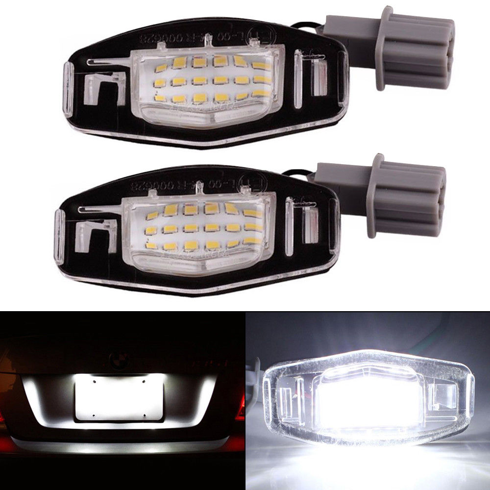 2x 18LED License Plate Light Direct For 99-14 Honda Accord CRV//Acura MDX TL TSX