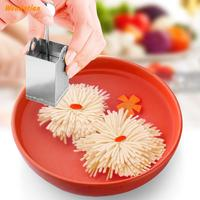 Kitchen Dining Molecular Cuisine Stainless Steel Chrysanthemum Tofu Shred Mold Knife Diy Molding Cooking Tool Sets