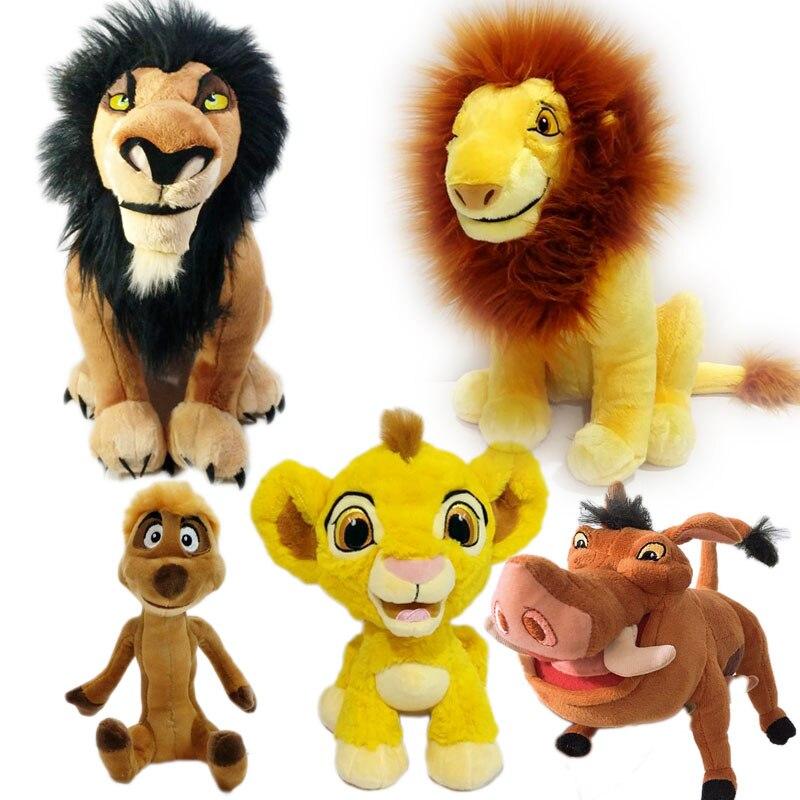 7d8d09fca00 Scar Simba Timon Pumbaa Plush Toy Cute Lion King Stuffed Animals Kids Toys  Gifts