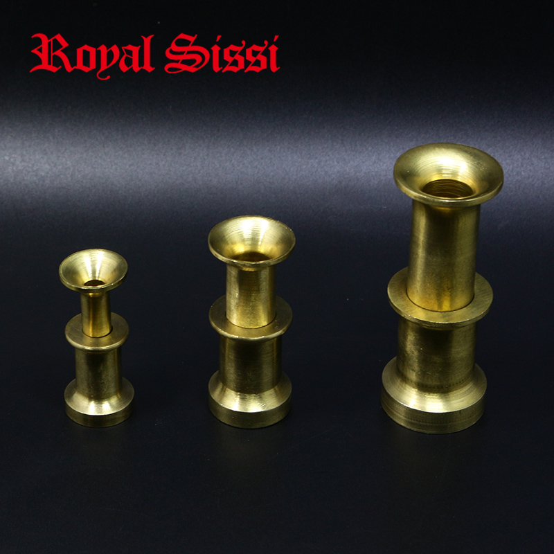 Royal Sissi 3sizes Hefty Brass Hair Stacker Well-appointed Fly Tying Brass Stacker For Calf Body Hair& Calf Tail Stacker Tools