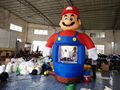 Hot sale Mario Inflatable Money Machine Cash Cube Money Booth for Sale with Free Blower inflatable games