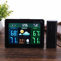 Color Wireless Weather Station Indoor Outdoor Thermometer Hygrometer With 1 Wireless Sensor With Forecast Temperature Humidity