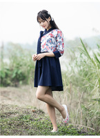 Female Spring Printing Han Chinese Clothing Fairy Chinese Style Dress Lolita