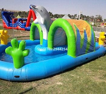 65c20b1eb Piscina inflable de PVC y parque acuático para niños, piscina inflable
