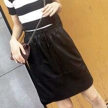 цена на 2018 New Fashion Genuine Sheep Leather Skirt G24