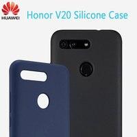 Huawei honor V20 Case Original Silicone case cover 360 luxury V 20 Plain Silicone cover