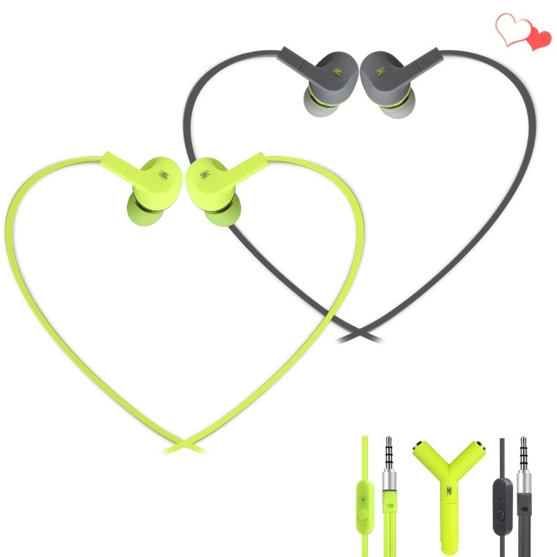 2 PCS Sport Wired Earphone In Ear Stereo Wired Earphones With Microphone Sport Aux Earbuds with MIC for Xiaomi Meizu Smartphone cyboris stereo earphone in ear wire control with mic 3 5mm sport earphone microphone