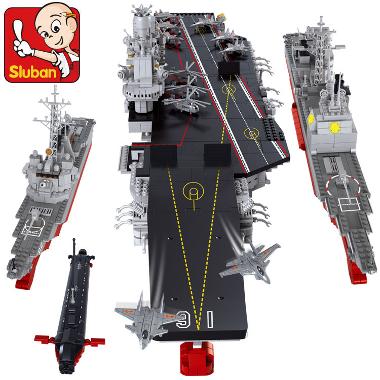 Model building kit compatible with lego Aircraft carriers Cruiser 3D blocks Educational model building toys hobbies for children aircraft carrier ship military army model building blocks compatible with legoelie playmobil educational toys for children b0388