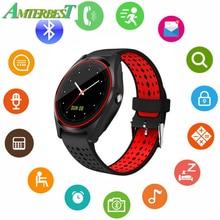 AMTERBEST Relógio Inteligente com SIM Slot Para Cartão TF Sem Fio Bluetooth Compatível Com IOS Android xiaomi telefone para As Mulheres Homens Crianças Meninos meninas