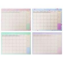 Прекрасный цветочный ежемесячный бумажный коврик 20 листов 21*28,5 см, сделай сам, планировщик, стол, подарок, школьные офисные принадлежности