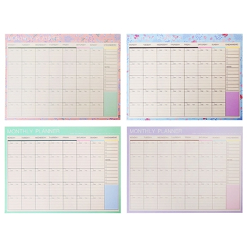 Monthly Paper Pad 20 Sheets DIY Planner Desk Agenda Gift School Office Supplies - discount item  17% OFF Notebooks & Writing Pads