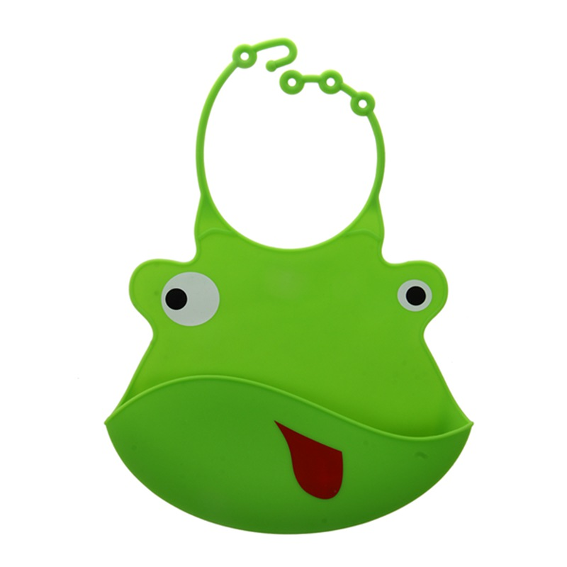 Baby Kids Silicone Waterproof Bib Animal Burp Colthing